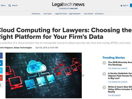 Brett Helgeson featured in LegalTechNews