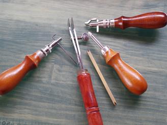 縫い線を引く道具達。