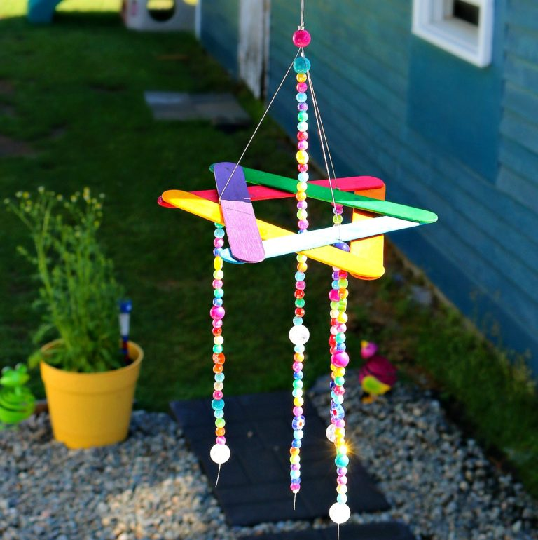 Rainbow-Wind-Chime-Kids-Craft