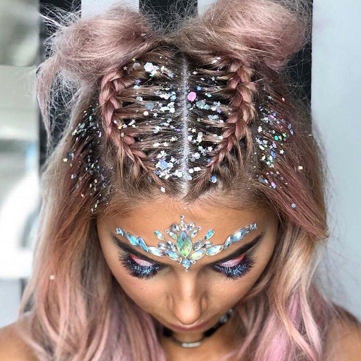 Glitter Girl Braids & Makeup