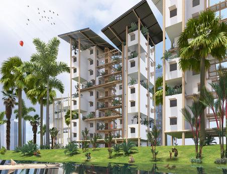 Cambodian Vertical Village