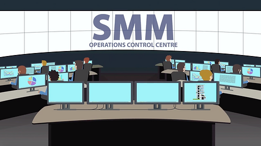 Motion graphic animation for SMM with computers