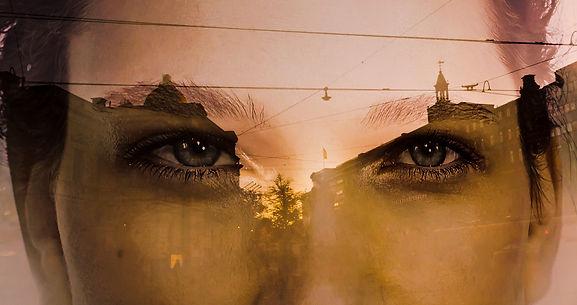 heijatus, mainos, silmät, auringonlasu, kaupunki