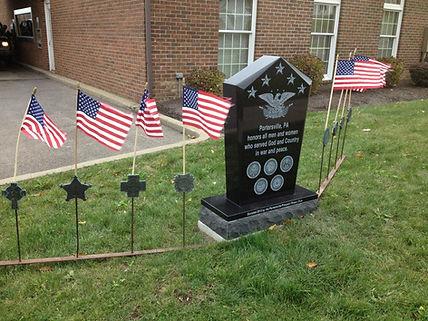 veteran memorial with flags.jpg