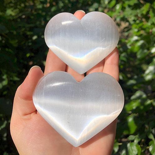 Large Selenite Hearts