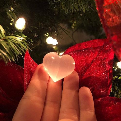 Small Selenite Hearts