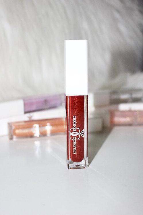 Ruby glitter lipstick