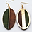 Thumbnail: Wooden leaf earring - dual color