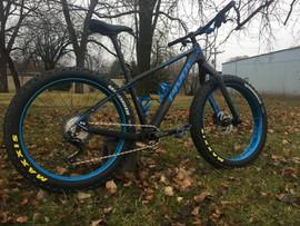 Pivot Les Fat with HED aluminum wheels.
