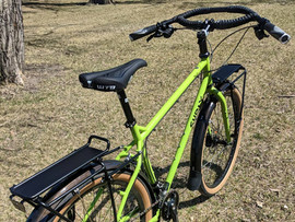 Surly Troll with Jones bars and front and rear racks.