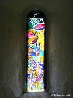 Vitrail Chapelle St-Etienne, Essertines-basses - juillet 2021