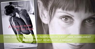"""Article sur Vera Seret """"Portrait d'Auteure"""" par le site Bookelis."""