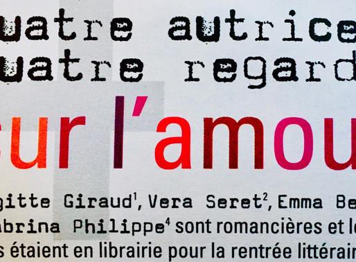 """Le magazine FÉMI-9 choisit d'éclairer """"À l'instant même où l'on bouge"""" et m'invite à parler d'amour."""