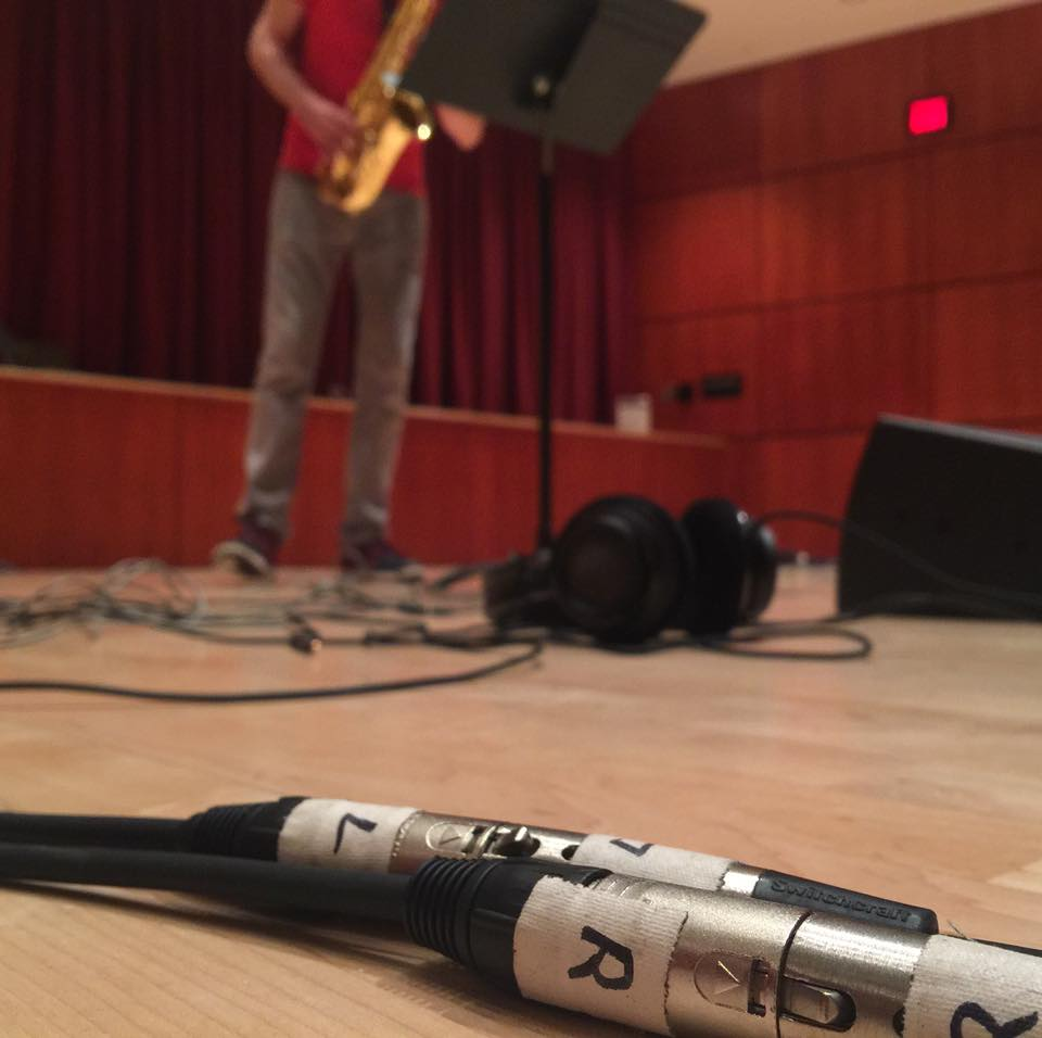 Mic check for Electrinics Recital