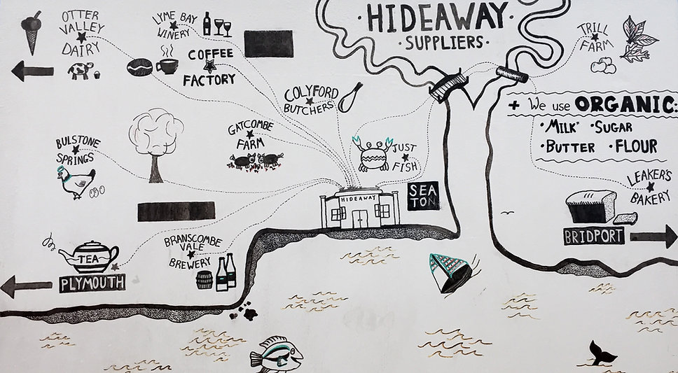 The Hideaway Seaton Map