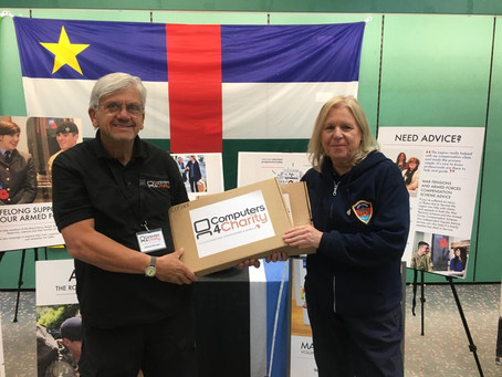 Laptops donated to Wigan Armed Forces HQ