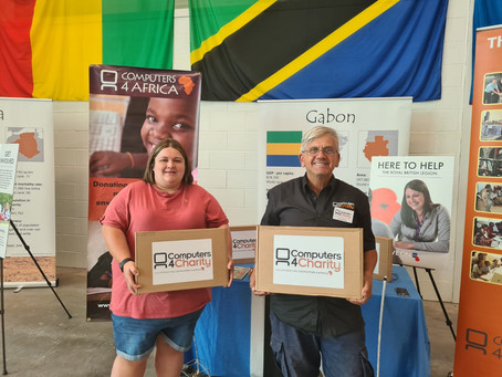 Laptops donated to Llamau