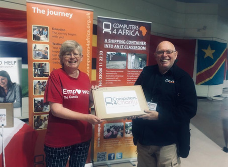 Laptop donated to Empower The Gambia