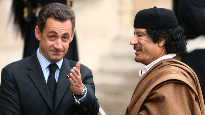 Kadhafi à Paris.