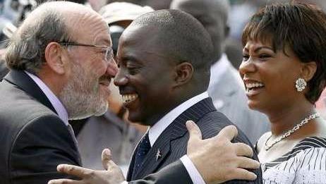 Louis Michel, Joseph Kabila et Olive Lembe