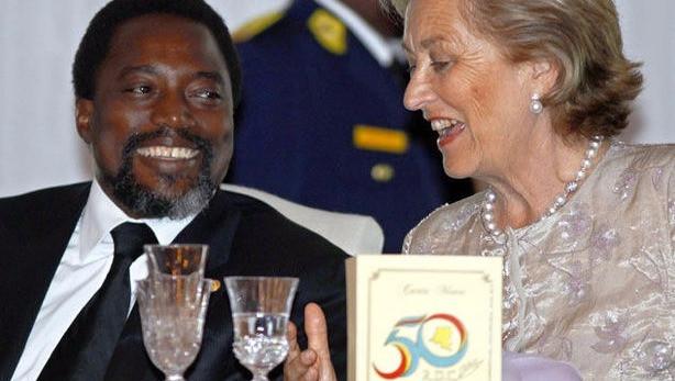 Kabila et la reine Paola des belges