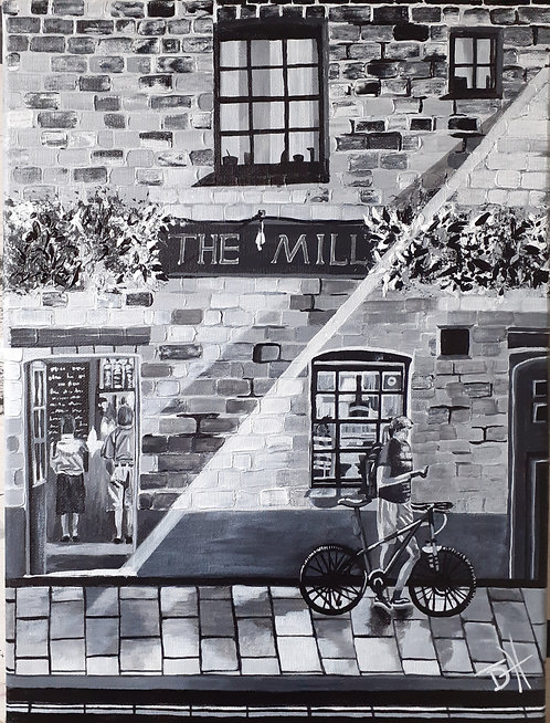 The Mill, Cambs 'Original' Art Canvas