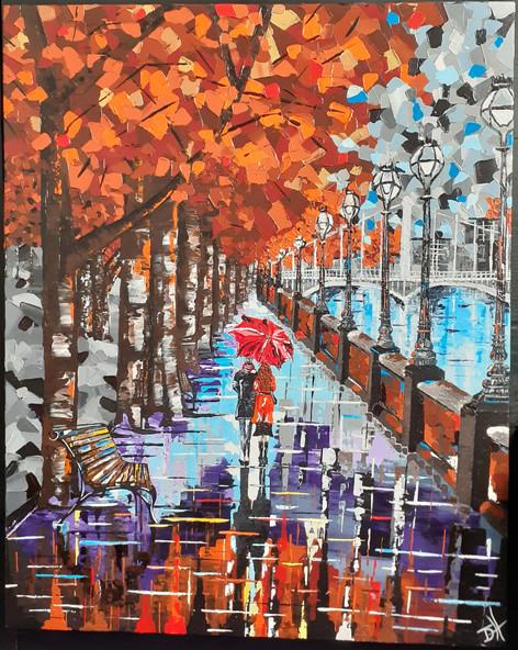 Autumn Stroll (61cm x 76cm) ORIGINAL FOR SALE