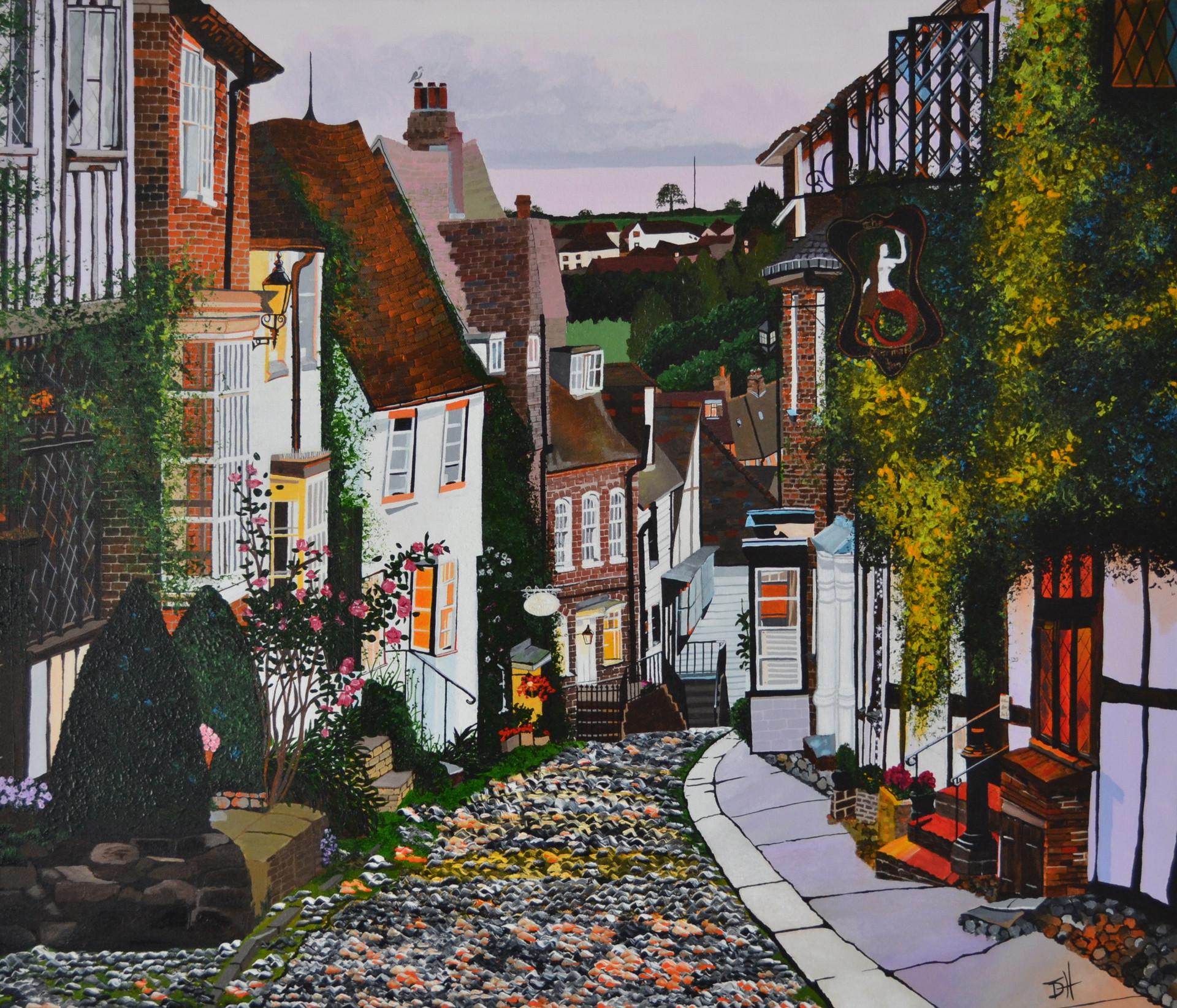 "Mermaid Street, Rye, Kent (W28"" x H24"") Prints available"