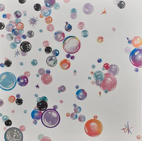 Bubbleburst (50 x 50cm) SOLD