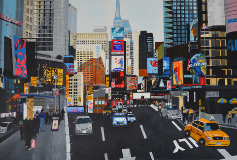 """Times Square, New York (W35"""" x H24"""")"""