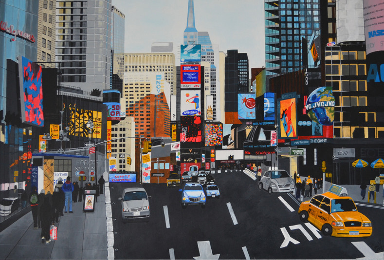 """Times Square, New York (W35"""" x H24"""") prints available"""
