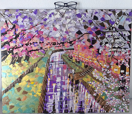 Sharing a Moment 'Original' Art Canvas