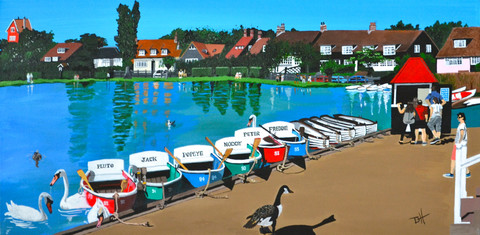 """Thorpeness, Suffolk (W20"""" x H12"""") Prints available"""