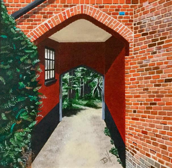 Through to Bridge End, Saffron Walden (30cm x 30cm app) Prints Available