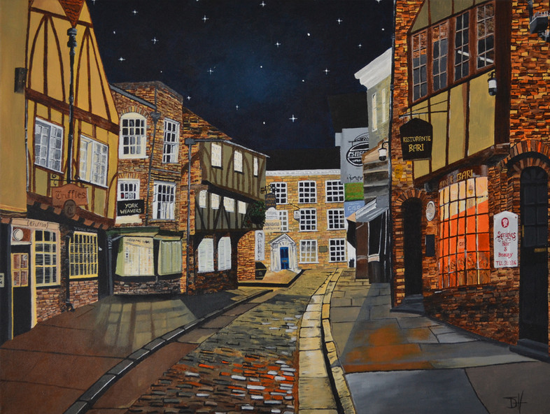 "The Shambles, York (W28"" x H18"") prints available"