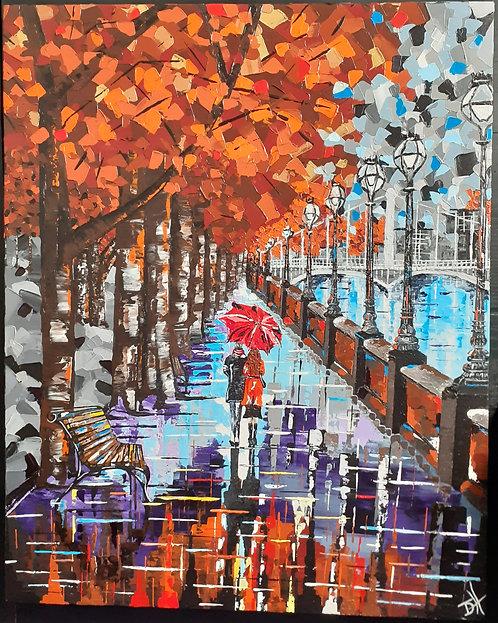 Autumn Stroll 'Original' Art Canvas