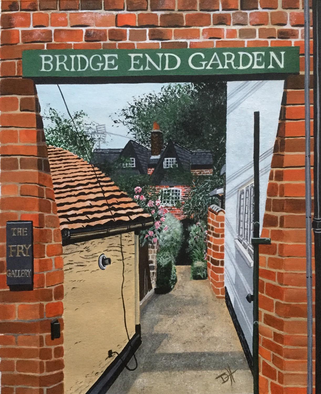 Bridge End Garden, Saffron Walden (24 x 30cm) Prints available