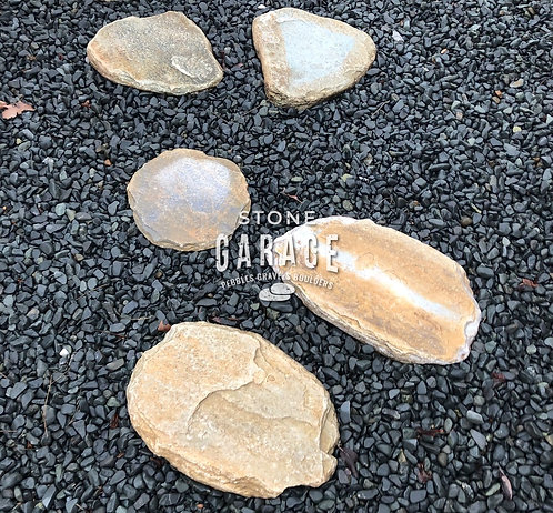 Rustic Green Stepping Stone