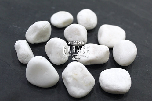 Crystal White Natural Pebbles