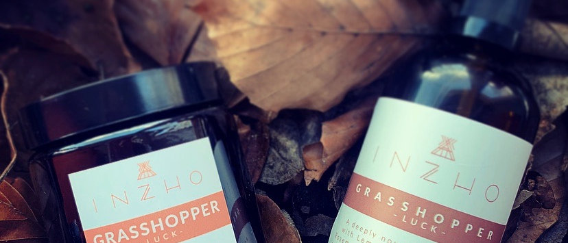 Grasshopper - For Luck - Body Oil and Soy Candle Duo