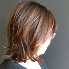 Made a subtle change on my lovely client Donna. Balyaged some darker pieces on the sides to complime
