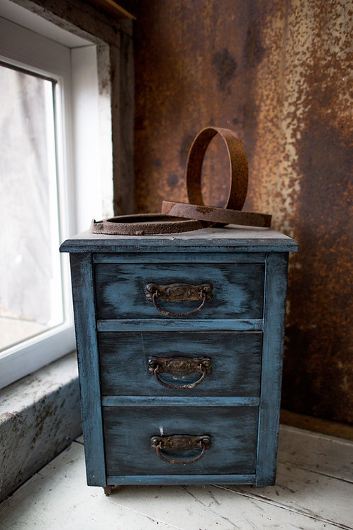 Antique Dresser Small Bluewashed