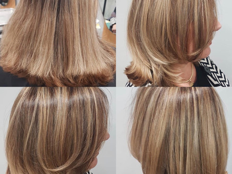 HELLO NEW HAIR! Before And After By, Hanro! Give Us A Call Today For Your Next Transformation! #292-