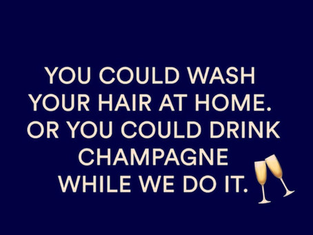 Who Wouldn't?! Join Is For Fizzy Friday's🥂 Book A Stylish Blowout And Receive A Complimentary Glass