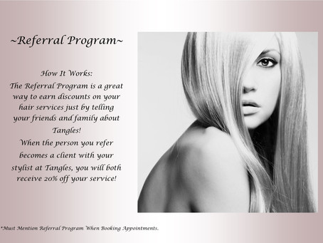 Introducing Our Referral Program! This Is A Special Way To Thank Our Clients For Referring Some AMAZ