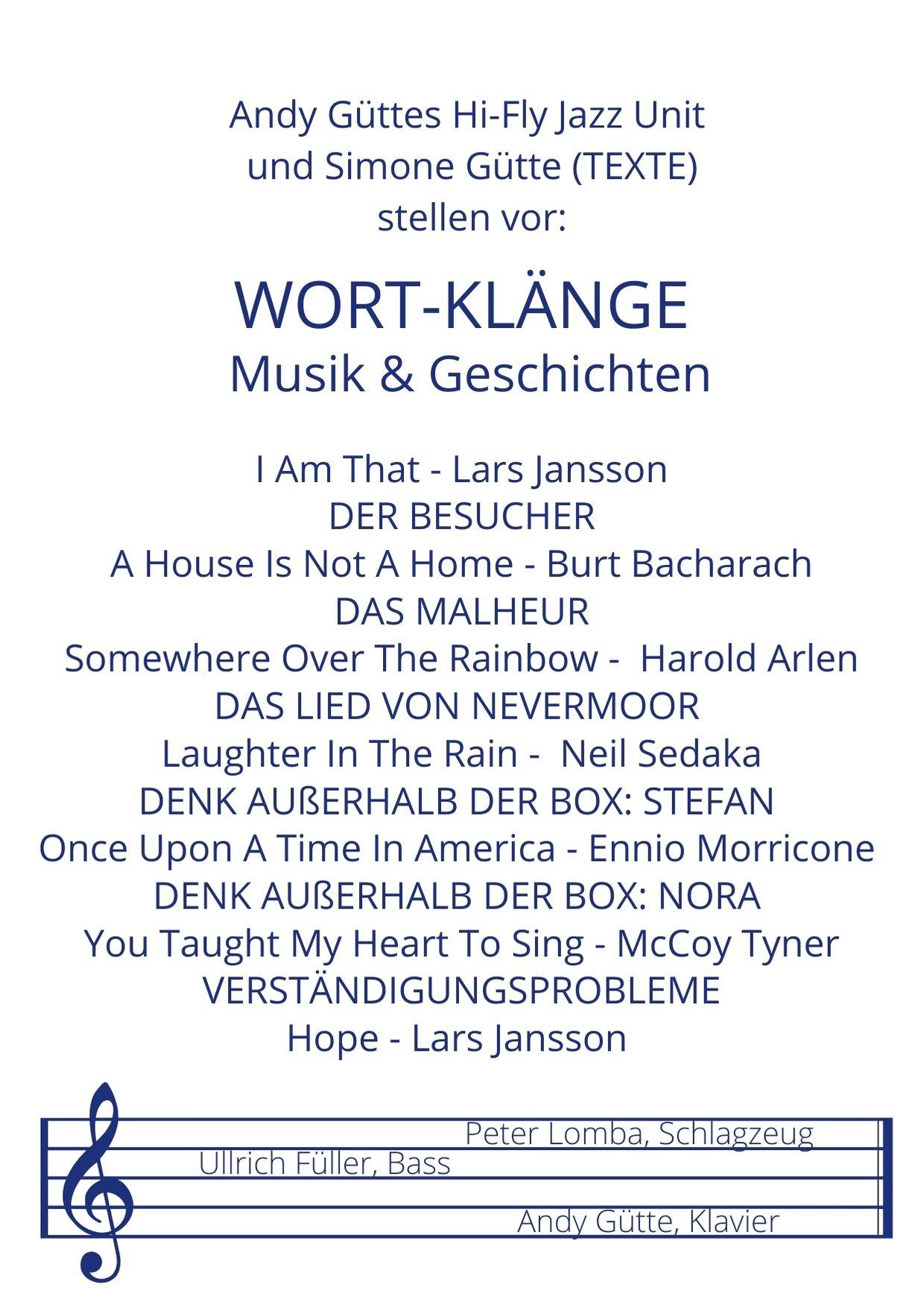 Das Programm der WORT-KLÄNGE Musik & Geschichten
