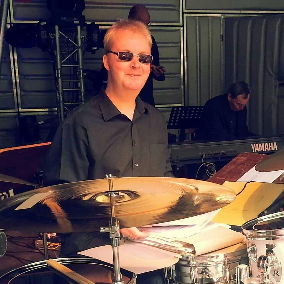 Andy am Schlagzeug