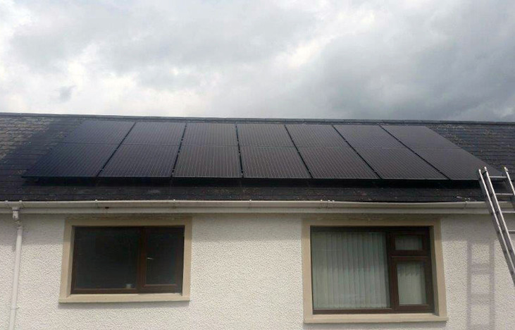 4KW SOLAR PV ON SLATE ROOF INSTALLED BY