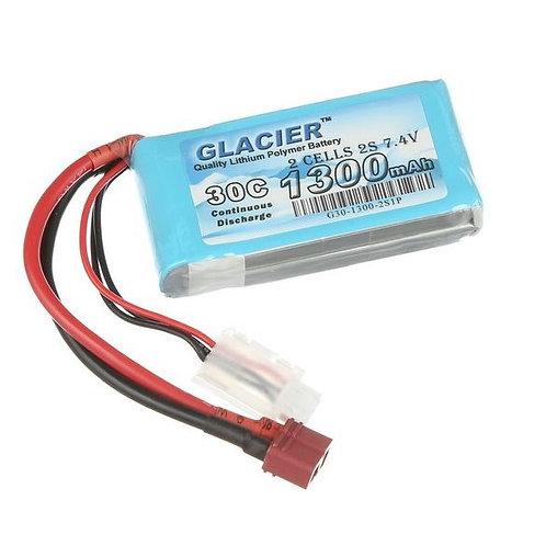 Glacier 30C 1300mAh 2S 7.4V LiPo Battery