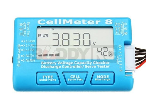 AOK CellMeter 8 Battery Voltage Capacity Checker & Servo Tester